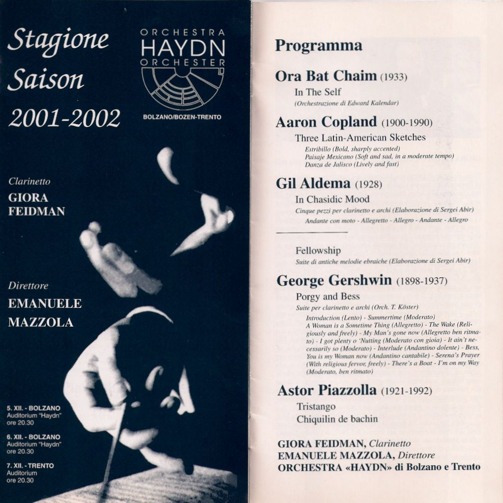 2001 - M° Emanuele Mazzola